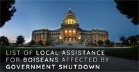 List of Local Assistance for Boiseans Affected by Government Shutdow