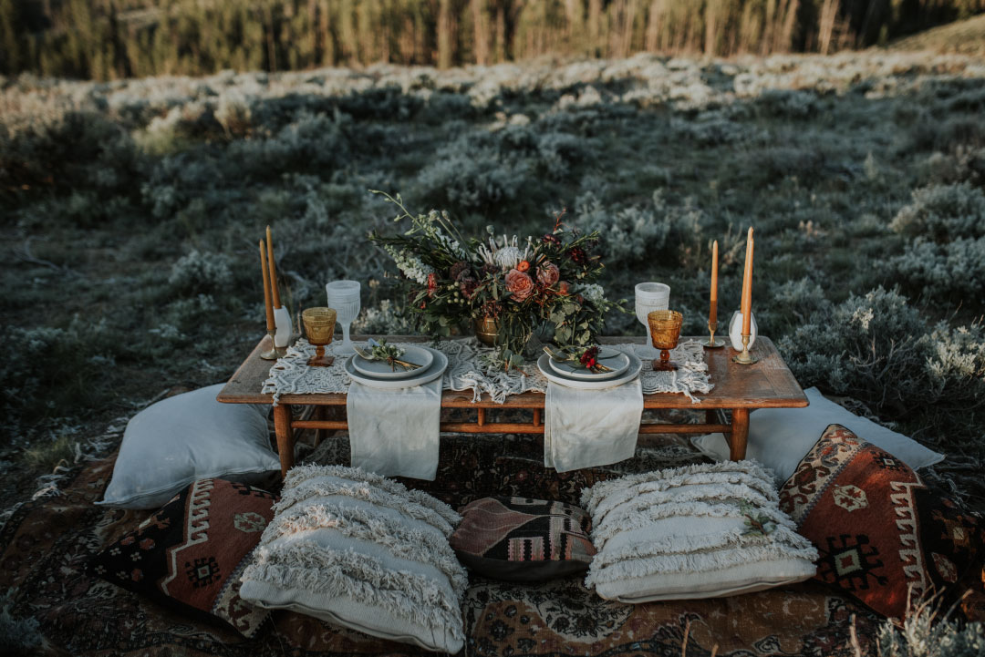 Mountaintop Wedding by Emily Aitken Events