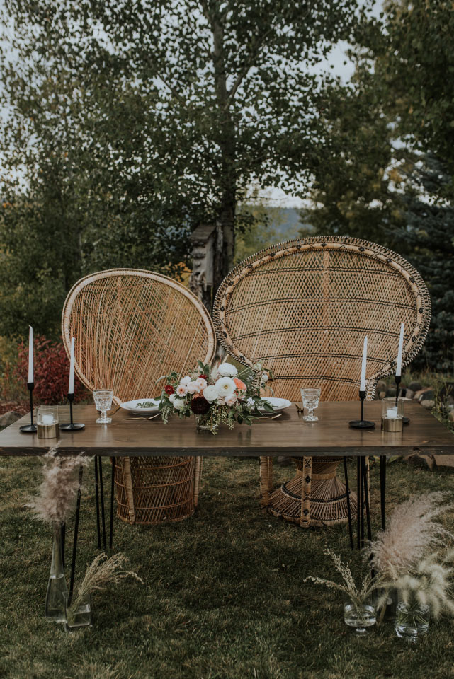 Outdoor Wedding Decoration by Emily Aitken Events