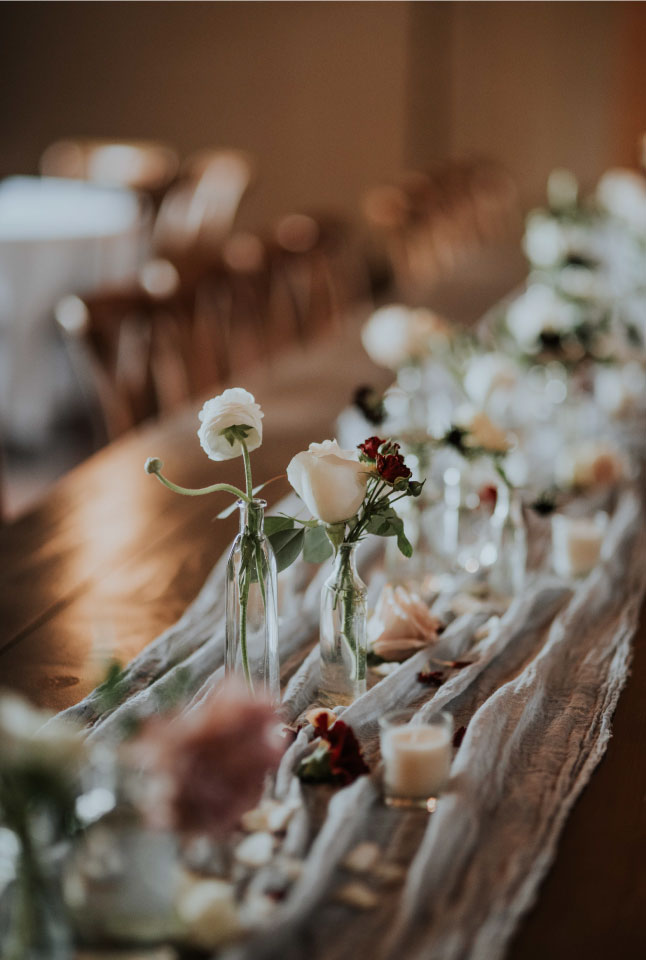 Indoor Wedding Decorations by Sprout Design