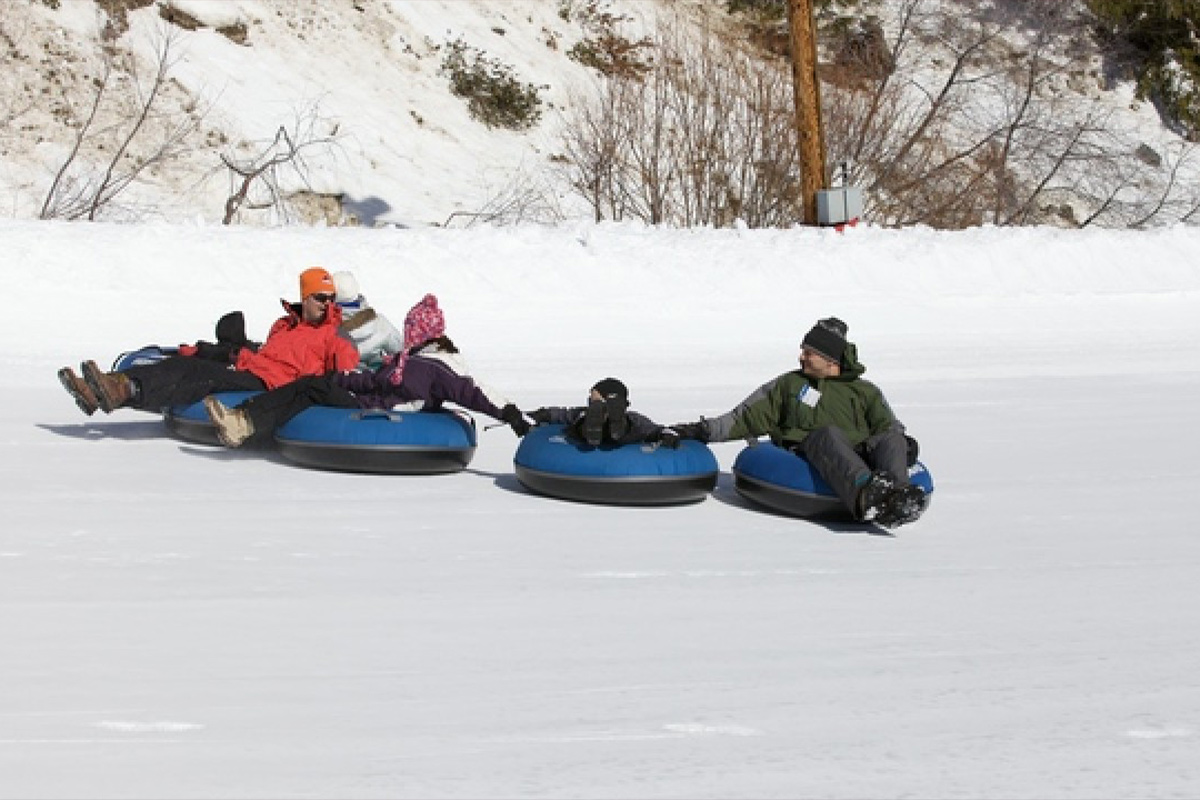Winter Tubing at Bogus