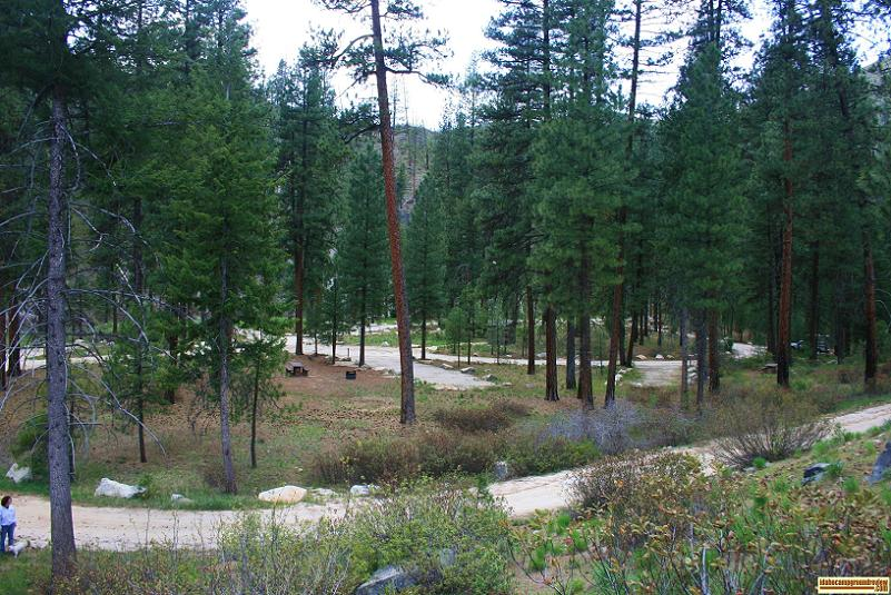 Black Rock Campground in the Boise National Forest