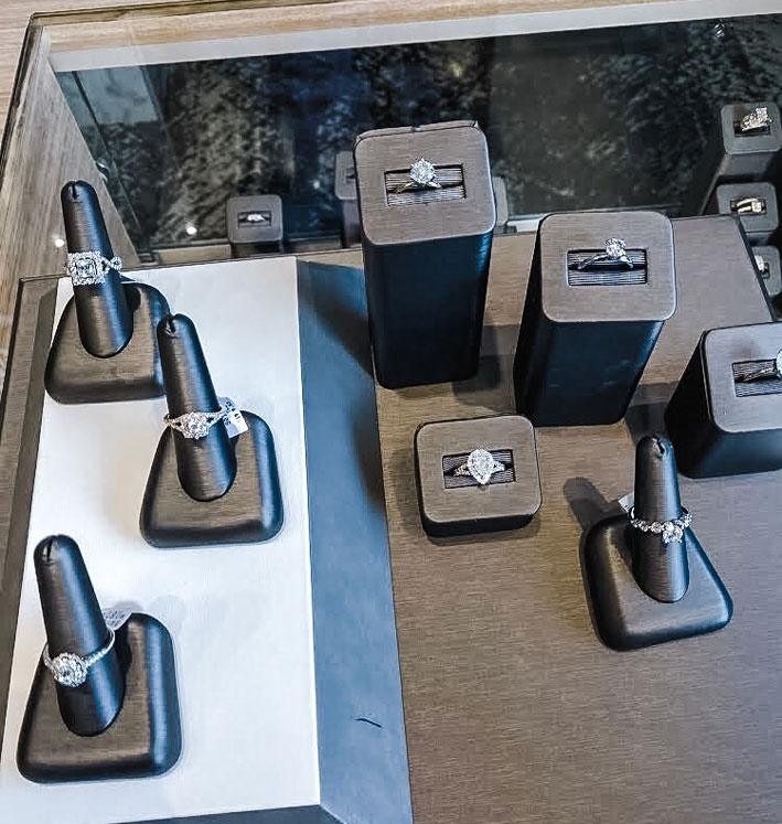 Ring Display at Jensen Jewelers