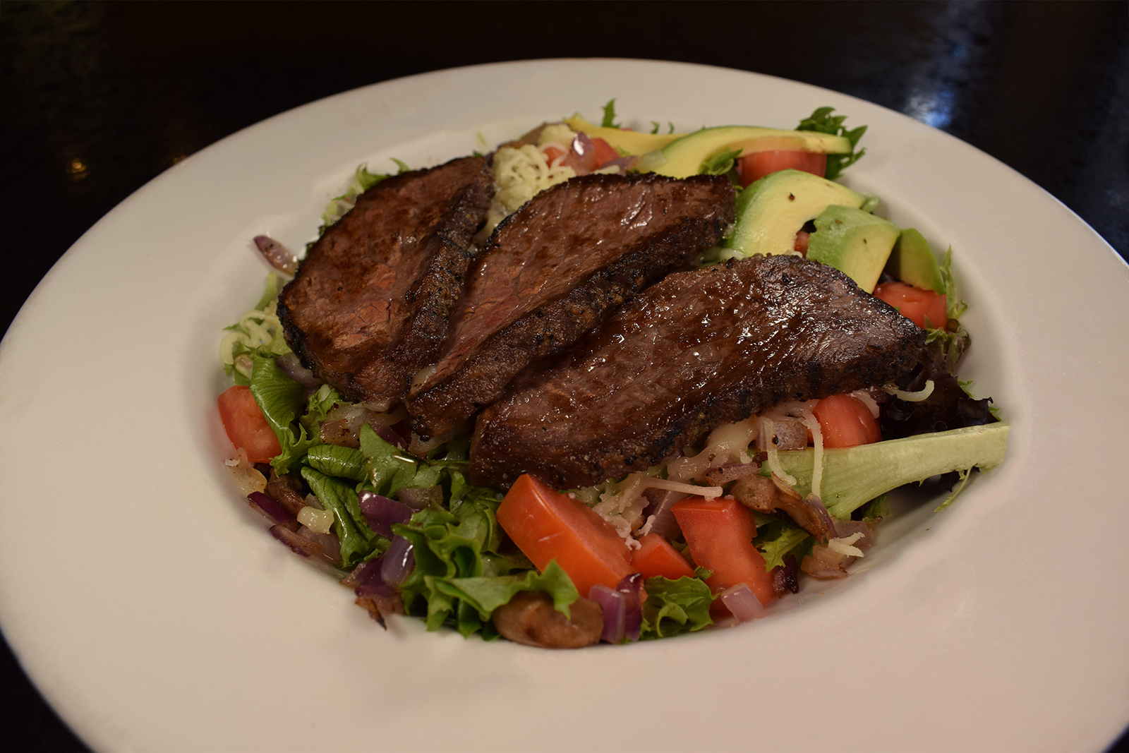 Steak Dinner with a Salad