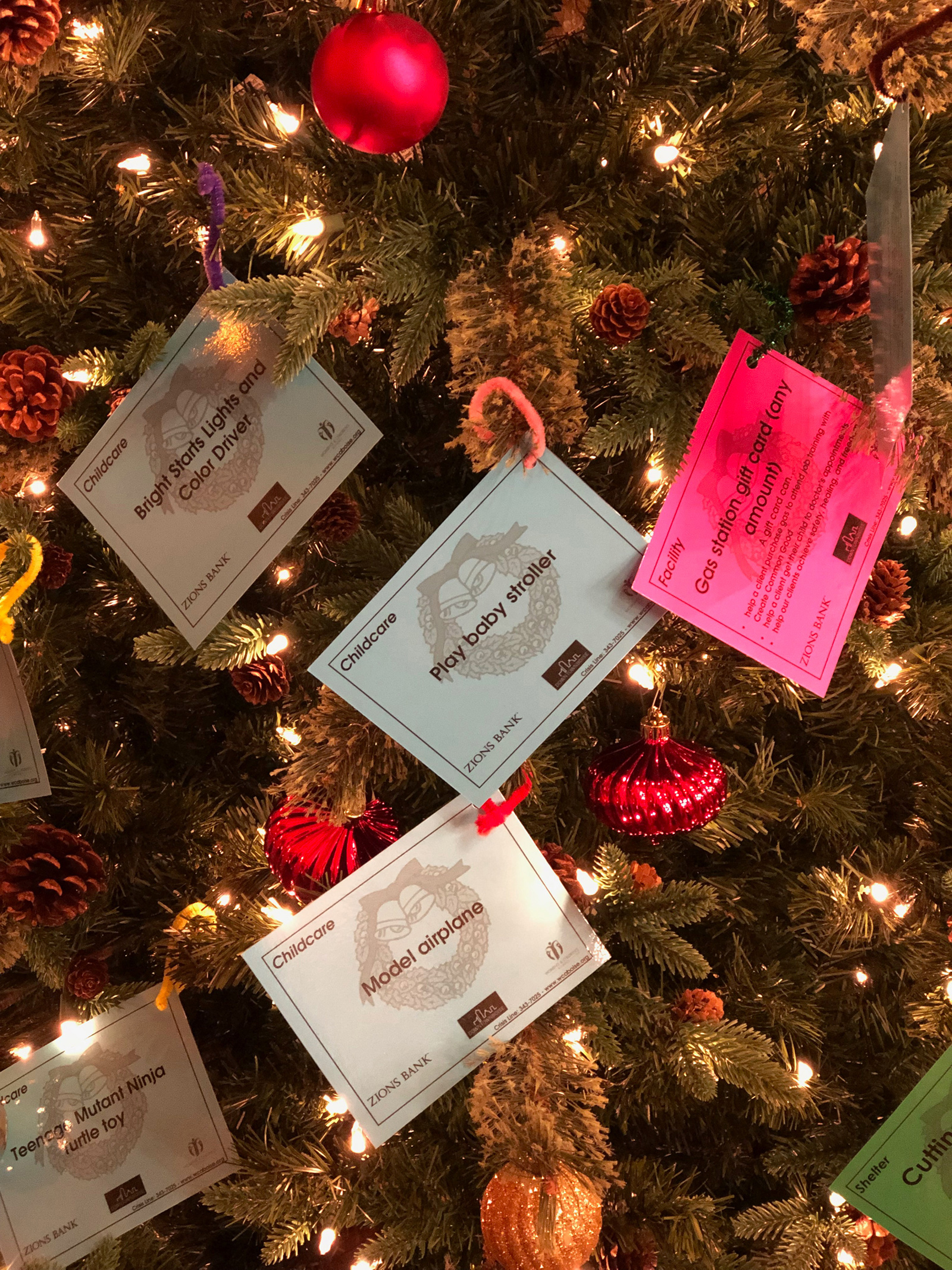 Cards on Christmas Tree