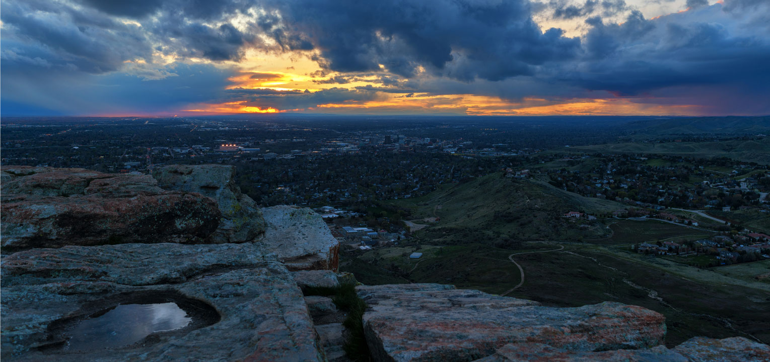 Table Rock sunset view, Boise Idaho