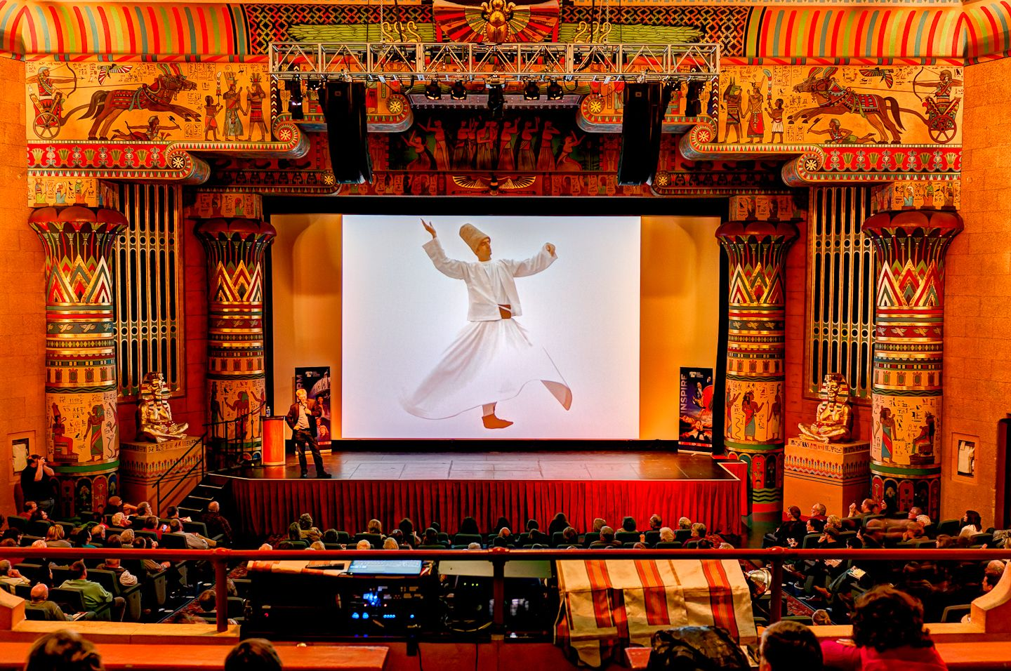 inside the Egyptian theatre in boise